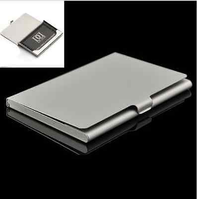 Functional Stainless Steel Business Name Credit ID Card Holder Box Pocket Case