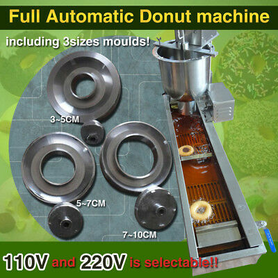 110V/220V automatic donut making machine,donut maker,3 donut mould,high quality