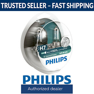 Philips Xtreme Vision +130% More Light H7 Headlight Globes (Twin Pack of Bulbs)