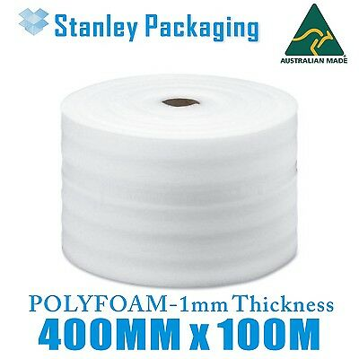 400mm x 100m Polyfoam Thick Packing Foam Wrap Roll 1mm 40cm WIDE FOAMWRAP
