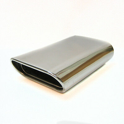 Dual Sport Universal Chrome Exhaust Pipe Muffler Tip Stainless Steel