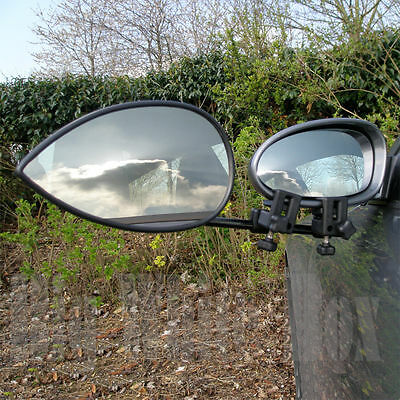 Pair of Milenco Aero 3 – Caravan Towing Mirrors – Flat Glass + Storage Bag