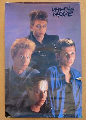 "Depeche Mode Poster 23x35"" Vintage 80s Bi-Rite Sheila Rock Young Group Pinup Pho"