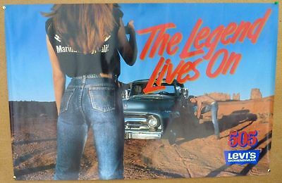 LEVIS 505 Jeans Poster Legend Lives On Truck Shirtless Male Vintage 80s Sexy