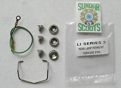 Headlight Fixing Kit.all Stainless Steel. For Lambretta Li Series 3  Scooters