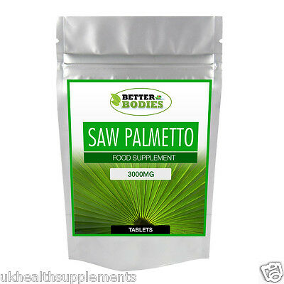 Saw Palmetto 3000mg HIGH Strength Tablets Available In Range of Sizes Free P&P