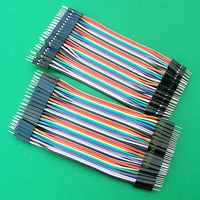 10 x Male to Male 40Pcs Dupont wire jumpercables 10cm 2.54MM 1P-1P For Arduino