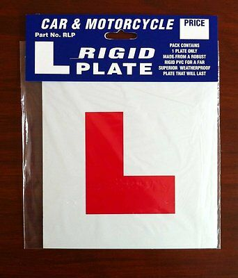 Motorcycle Scooter L Plate Rigid Learner Plate RLP