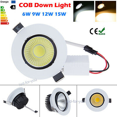 Dimmable Ampoules 6W 9W 12W 15W COB LED Down Light Ceiling Recessed Lampe Bulbs