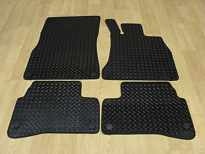 Mercedes S Class SWB 2013-on Fully Tailored RUBBER Car Mats in Black.