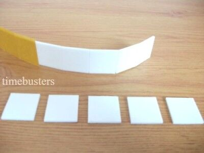 2000 Double Sided White Foam Pads/Squares Sticky Fixers 3D Effect 25mm Square