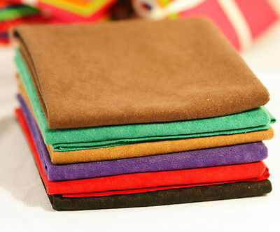 FAUX SUEDE-SUEDETTE FABRIC-FAT QUARTERS and METRES-MANY COLOURS-CRAFT-SEWING