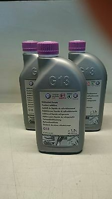 GENUINE VOLKSWAGEN G13 COOLANT / ANTIFREEZE x 3 (USE TO BE G11,G12,G12 PLUS)