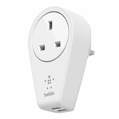 Belkin Rotating 2.4A Dual USB Mains Charger for iPhone Tablets Smartphone iPad