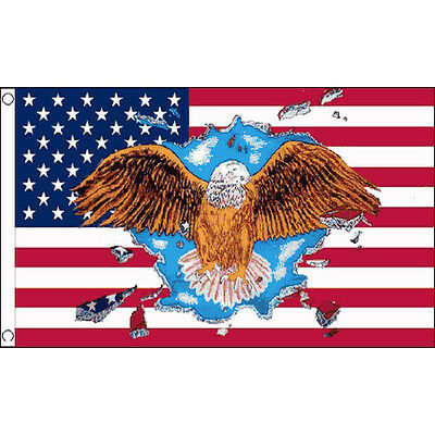 Usa Eagle Flag 5Ft X 3Ft America American Banner With 2 Metal Eyelets New
