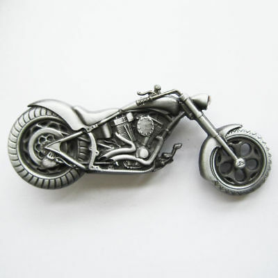 3D Motorcycle Chopper Metal Belt Buckle