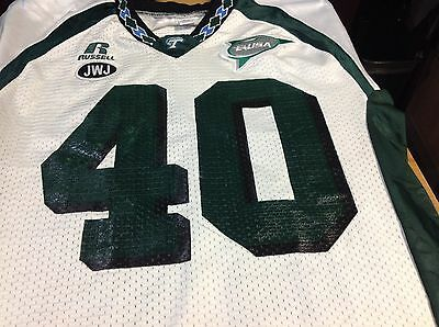 TULANE UNIVERSITY GAME Used Football Jersey White Size 46  58 Sperry ... 93e8b5deb