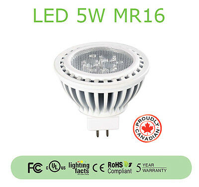 5W LED MR16 Lamp (3,000K/UL Listed/5-Year Warranty) - 10-PACK
