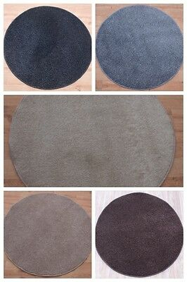 New Small Large Round Circle  Plain Thick Rugs Modern Colours Cheap Circular Mat