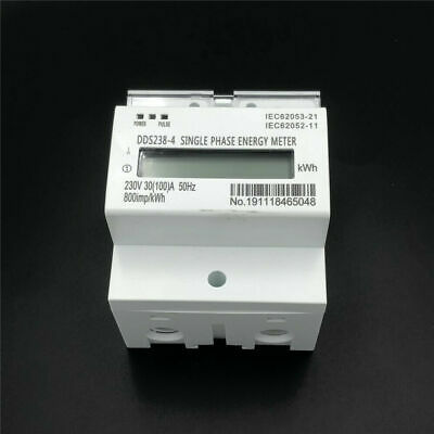 1 PCS DDS238-4 110V 20(100)A 60H LCD Single Phase DIN Rail kilowatt-hour Meter