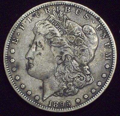 1895 O Morgan Dollar SILVER KEY DATE COIN Authentic VF+ Detailing Coin RARE $1
