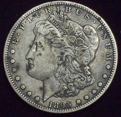 1895 O Morgan Dollar SILVER KEY DATE COIN Authentic VF+ Detailing US Coin *RARE*