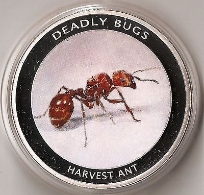 Zambia 1000 Kwacha 2010 Animal Harvest Ant -  Coloured Proof Rare! Coin Cat. 40$