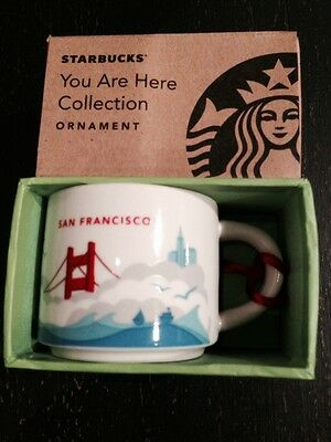 Starbucks Coffee Mug San Francisco You Are Here Collection2012 Mini Ornament New