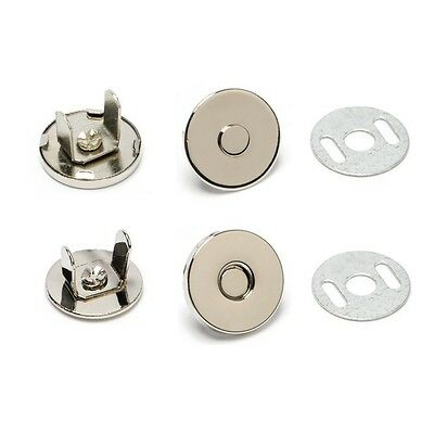 """100 50 10 Sets Thin Magnetic Purse Snaps Closures 14mm 9/16"""" NICKEL Best Price"""