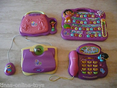 Dora Explorer Interactive Tv Telephone Carnival Laptop Mouse Alphabet Adventure