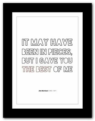 Jim Morrison ❤ typography quote poster art limited edition print The Doors #46