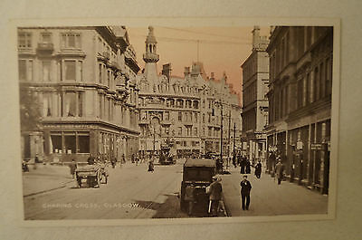 Charing Cross - Glasgow - Vintage - Collectable - Postcard.
