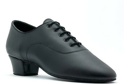 Boys Mens Black Ballroom Latin Dance Shoes LATINO SPLIT SOLE By Topline