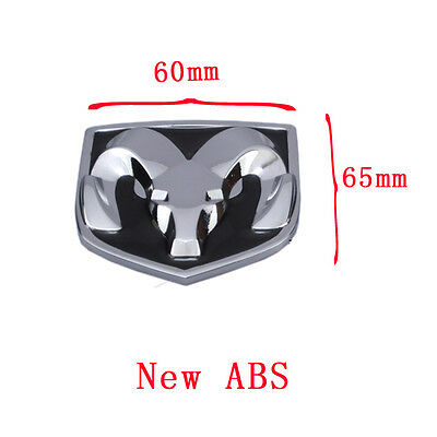 New ABS Black Hood Head Grill Tailgate Trunk Emblem Badge for Dodge Ram 60*65mm