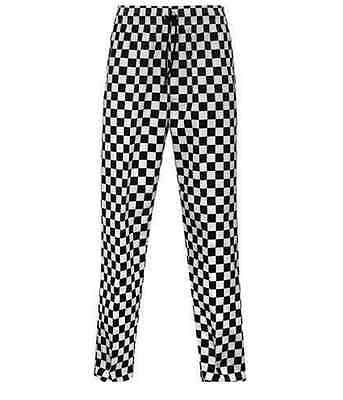 BRAND NEW Chef Trousers Chef Black And White Chessboard Check Uniform Unisex
