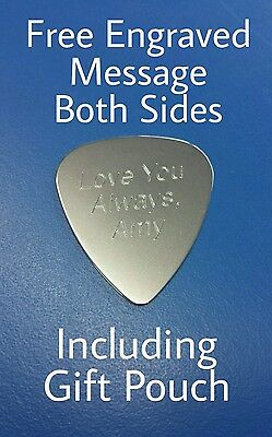 Personalised Custom Engraved Guitar Pick Plectrum GUITARIST BIRTHDAY GIFT