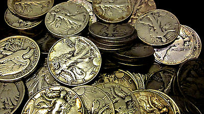 1916-1947 ~**1 US Coin**~ Silver Walking Liberty Avg. Circulated Half Dollar!