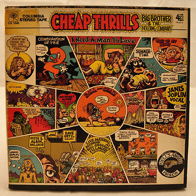 Vtg Cheap Thrills Big Brother & Holding Co Reel to Reel Tape 4 Track 7.5ips