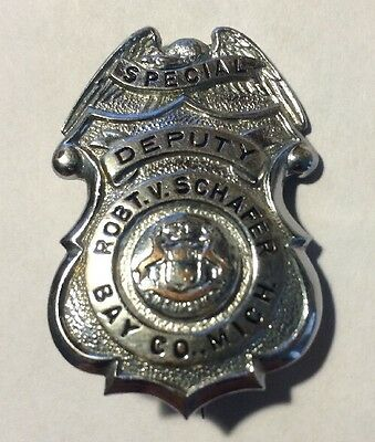 Vintage Police Badge - Bay County Michigan Sheriff Office Dept - Special Deputy