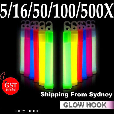 Glow Sticks 6 Inches Hook Lanyard Light Party Glowsticks Poi Glow in the dark