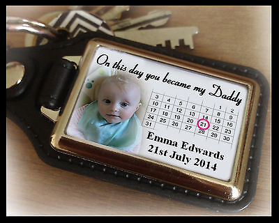 Personalised keyring, key fob, Fathers day gift, birthday or christmas gift