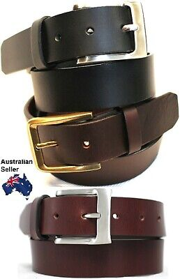 New Quality Genuine Full Grain Leather  Mens Jeans Belt Australian Seller 41012