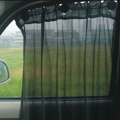 Black Universal Car Curtain Sunshade Car Curtain With Suction Cup 50 * 75CM - CB