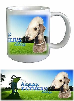 Bedlington Terrier Dog Fathers Day Ceramic Mug -2 by paws2print