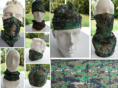 'CAMO' Head/Face/Mask/Neck Multi-wear tube Bandana/Durag.SPF5,Scarf/Wrap. 039