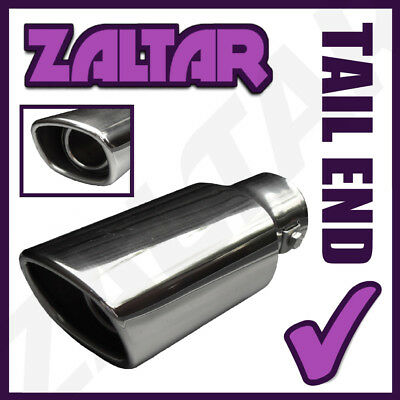 Chrome Exhaust System Tailpipe Tale Tip Trim Cover End Stainless Steel Rear End