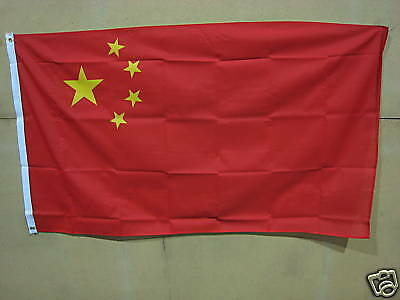 NEW 2 x 5ft x 3ft Quality Material Flags China Chinese National Flag Free P & P