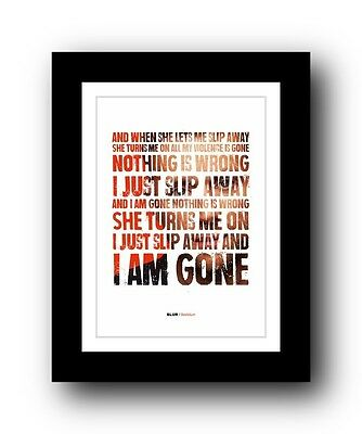 BLUR Beetlebum  ❤  song lyrics typography poster art print