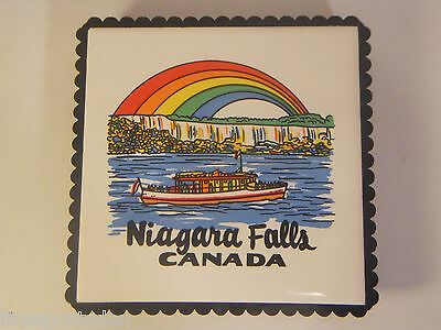 NIAGARA FALS CANADA Trivet - Tile Insert Footed Fold Out Stand Wall Hang Bracket