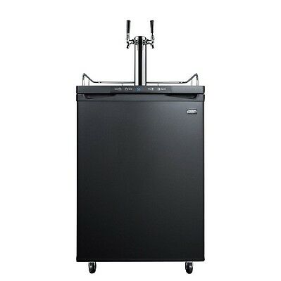 Summit Kegerator - 2 Faucets - Black - Draft Beer Dispensing in your Home Bar!